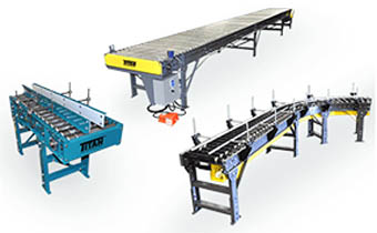 Titan BELT DRIVEN LIVE ROLLER CONVEYORS